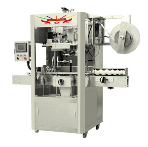 PVC/OPS/PET shrink sleeve labeling machine for glass, metal plastic bottles