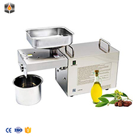 Chinese CE Blue Food Grade Home Use Groundnut Oil Making Machine Oil Press Machine