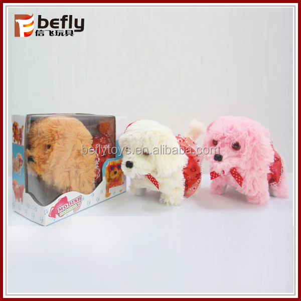 Plush battery operated dog toy for kids