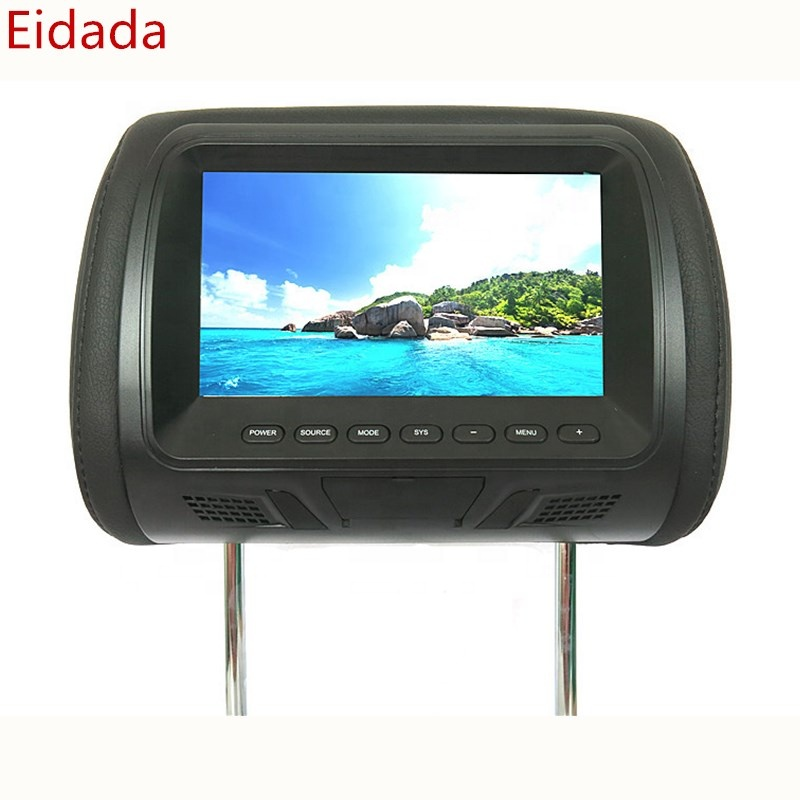 Cheap Price 7 inch Car Automobile Headrest Mp5 Lcd Monitor with USB SD FM Pillow Type