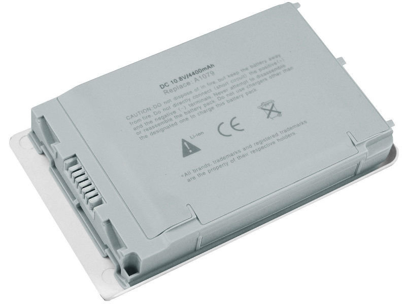 6 cells 4400mAh 48Wh Silver, replacement for apple PowerBook G4 12 inch A1079 laptop battery