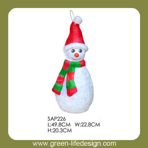 Papel de regalo de navidad decoratibe snowman wholesale piñatas