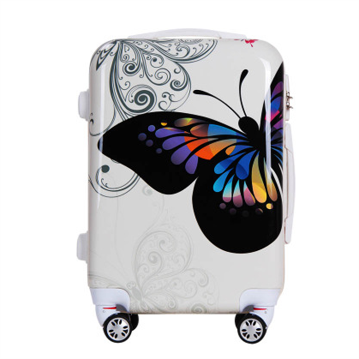 funky butterfly school kids hard shell trolley case suitcases luggage