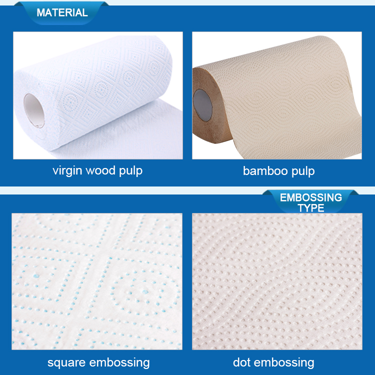Wholesale manufacturer ultra absorbent paper soft wet strong disposable kitchen towel roll