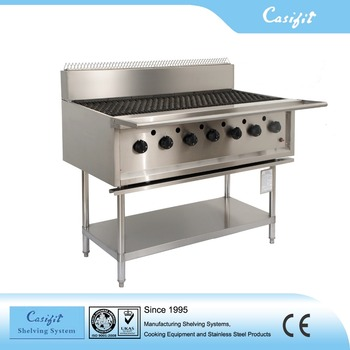 Restaurant Stainless Steel Bbq Gas Grill With 7 Burners