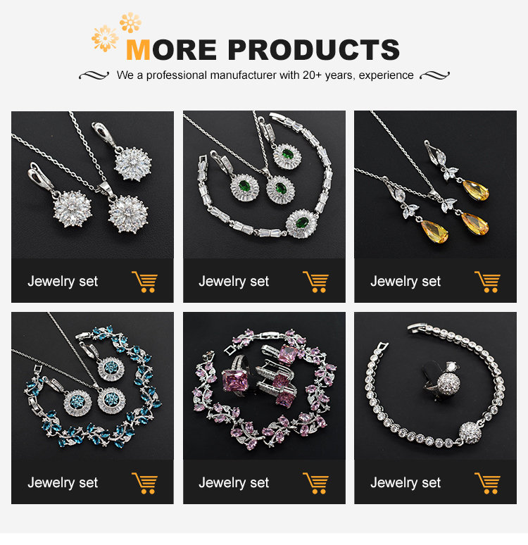 Vrouwen Mode-sieraden Gift Set Promotionele Dubai Big Hanger Crystal Luxe Wedding Gift Set