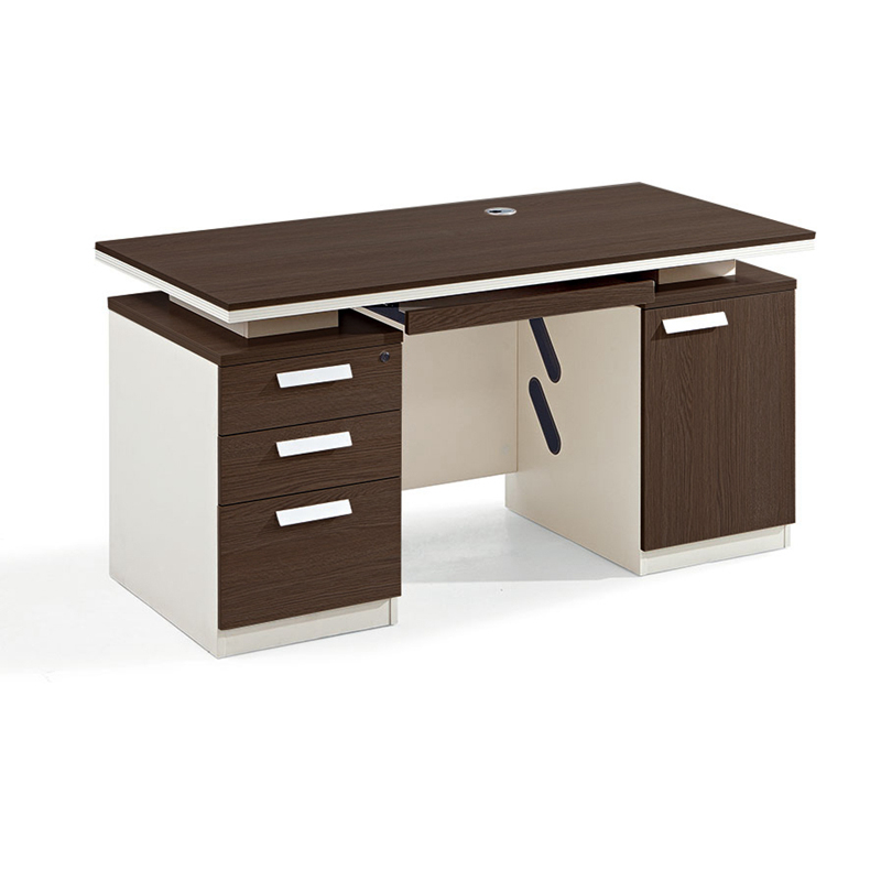 Wooden Desk Weight Home Office Computer Table With 3 Drawer One Seater
