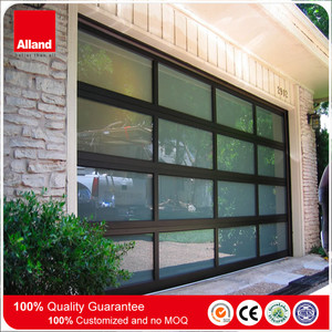 clear glass garage door prices with aluminum frame