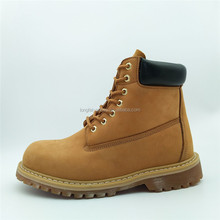 Cow nubuck leather goodyear steel toe basic safety shoes china work shoes