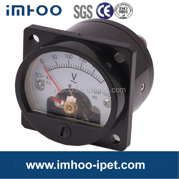 S0-45 panel meter analog voltmeter and ammeter