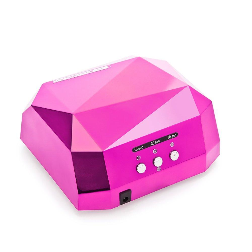 36W Nail Dryer Professional Diamond Shaped CCFL & LED UV Nail Lamp (UV & LED 2 in 1 Nail Gel Lamp), Curing Nail Dryer for LED UV Gel Nail Polish nail tools (Rose)