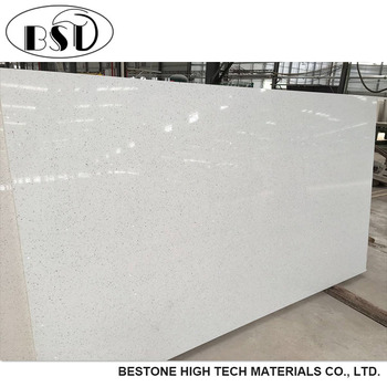 Pearl White Quartz Slab, Luxor Artificial Quartz Stone