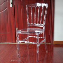 Knock down resin clear napoleon plastic wedding chair with cushion YCX-A61