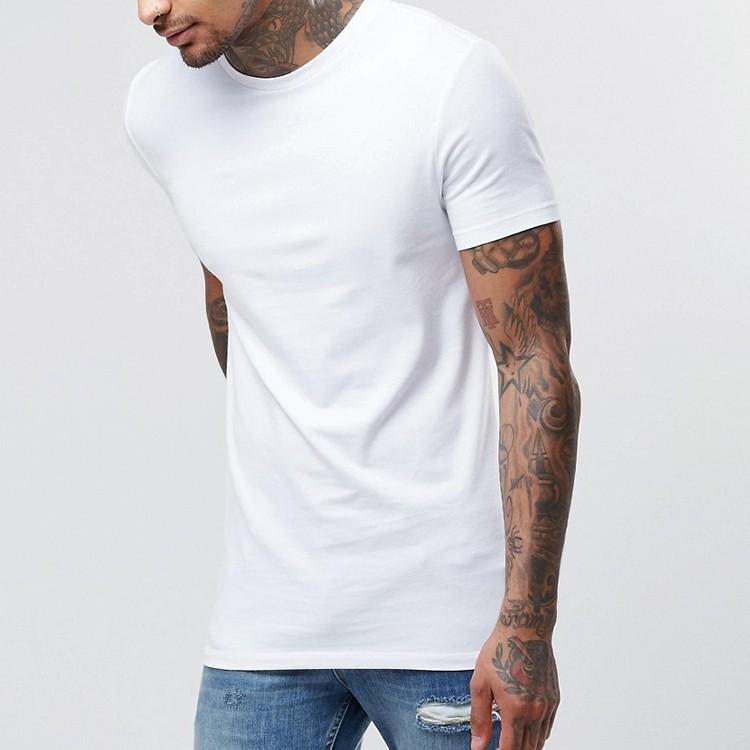 87199dc394a ... wholesale Best Selling Slim Fit Men's Plain White t-shirts Designer  Western Tops Images t