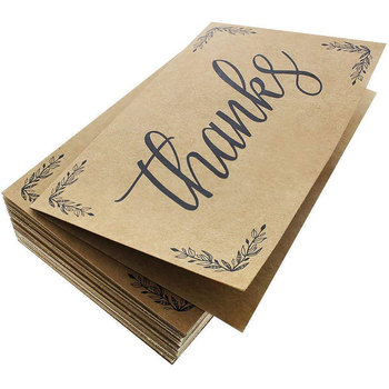 Thank You Cards 100 Count Thank You Notes Kraft Paper Bulk Thank
