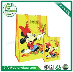 Cute Mickey mouse printing kid school bag recyle logo bag