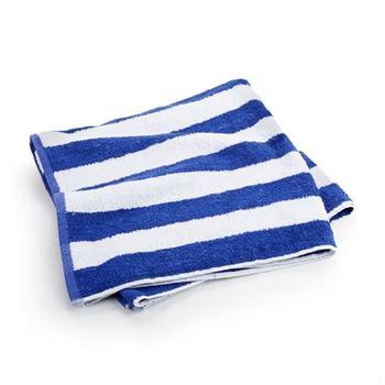 Pool Towel Blue White Stripe