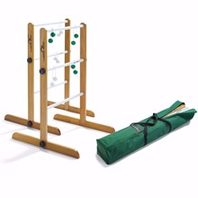 Ladder Golf Double Tournament Game, 2 Sets of Bolas (Green, White) garden game