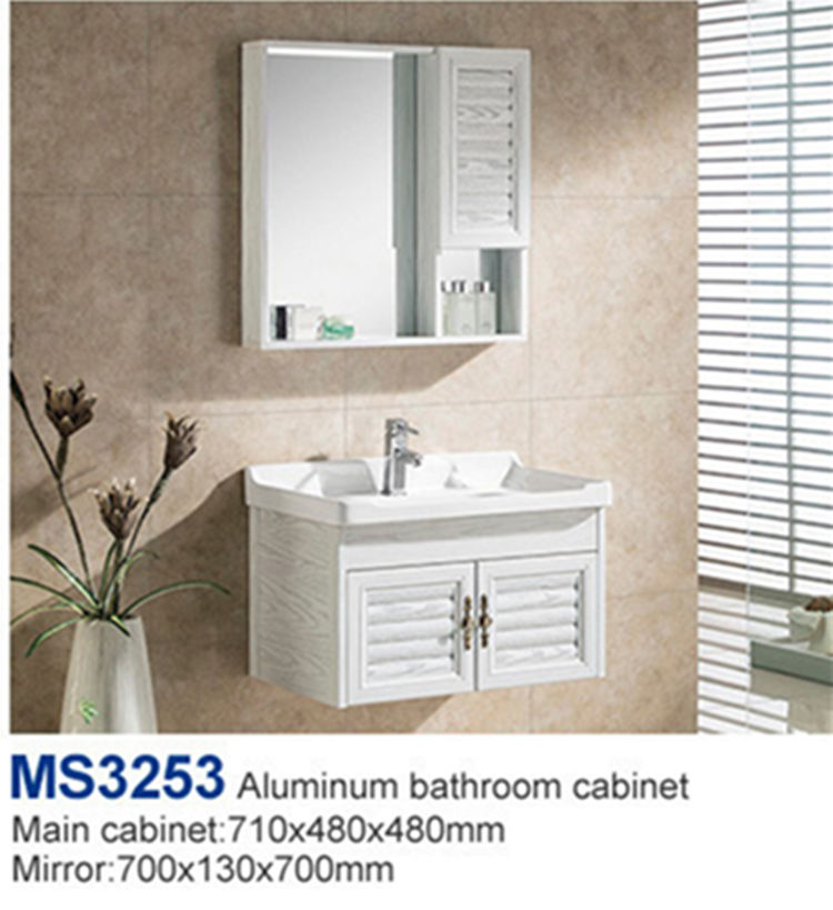 Made in china bathroom 80 aluminum sink cabinet set