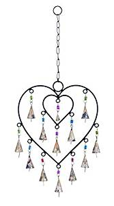 Benzara Wind Chime with Adorable Small Heart Inside by Benzara