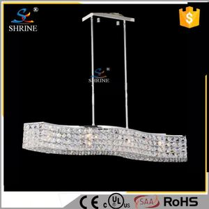 Contemporary GU10 Crystal Pendant Fluorescent Light Fixture Parts Model SC5241