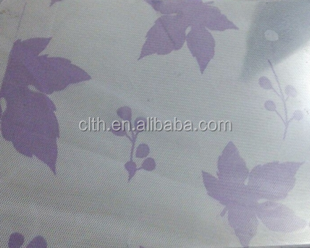 100 polyester line-jacquard printed mesh fabric maple