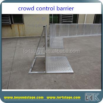 amovible pliable sécurité barrière de foule pour le concert grand
