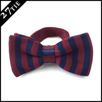 China factory party red wedding bowtie/mens handmade silk knitted bow tie
