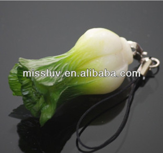 summer cabbage vegetable fruit keychain unique keychain promotion gifts