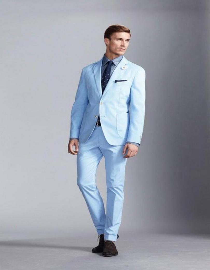 Light Blue Suit Fashion Promotion-Shop for Promotional Light Blue ...