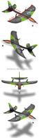 Good sale 2.4G Remote Control 2 Channel Foam Glider Plane For Sale