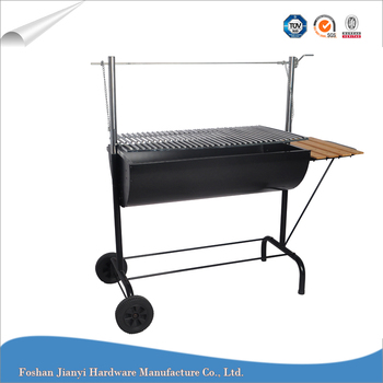 Outdoor Barbecue Hanging Grill Height Adjustable Charcoal Bbq Grill