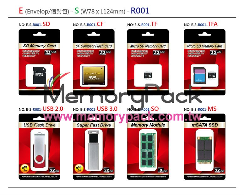 micro sd memory card ddr3 dram module usb drive package plastic blister clamshell box tray
