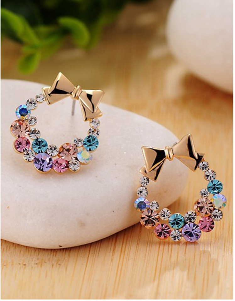 amazon colorful diamond earrings studs accessories butterfly embroidery boho flower earring stud set design for women 2019