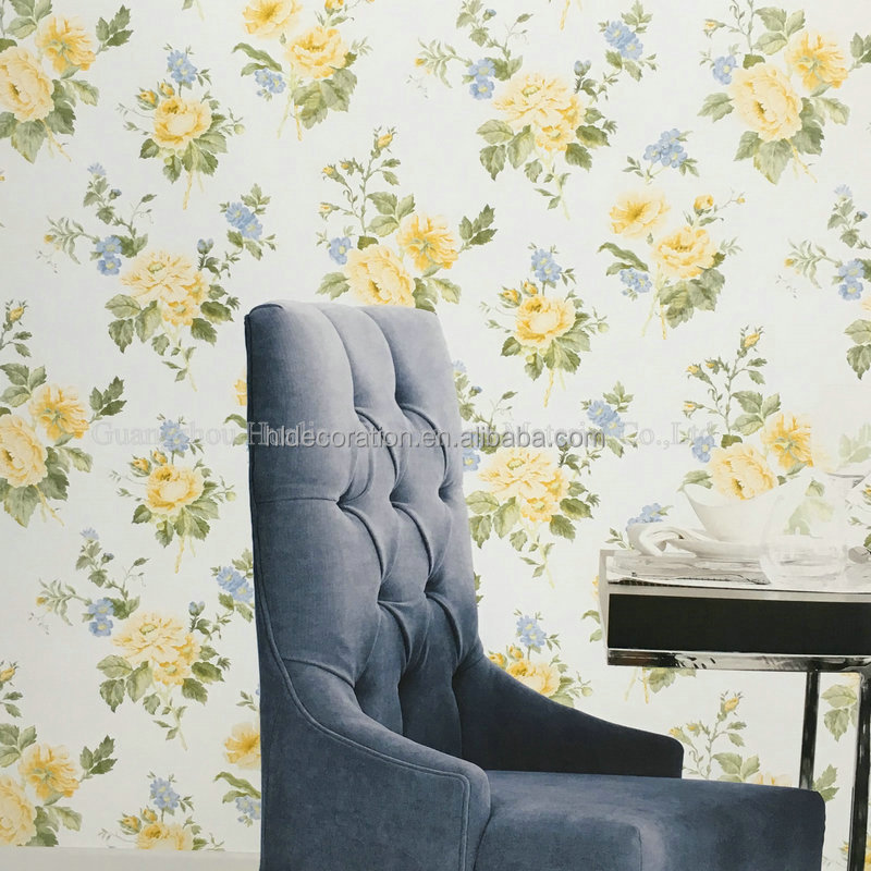 PT-G67293 country style design floral vinyl wallcovering 3d wall paper
