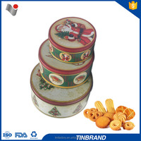 Super market cooperate 0.23mm metal christmas cookie tin box