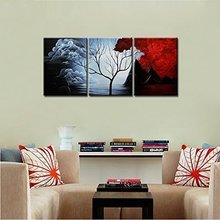 Home Decoration Abstract Landscape Oil Painting on Canvas 5pcs/set Mixorde
