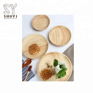 Hot Sale Small Wooden Dishes/Breakfast Tray Set