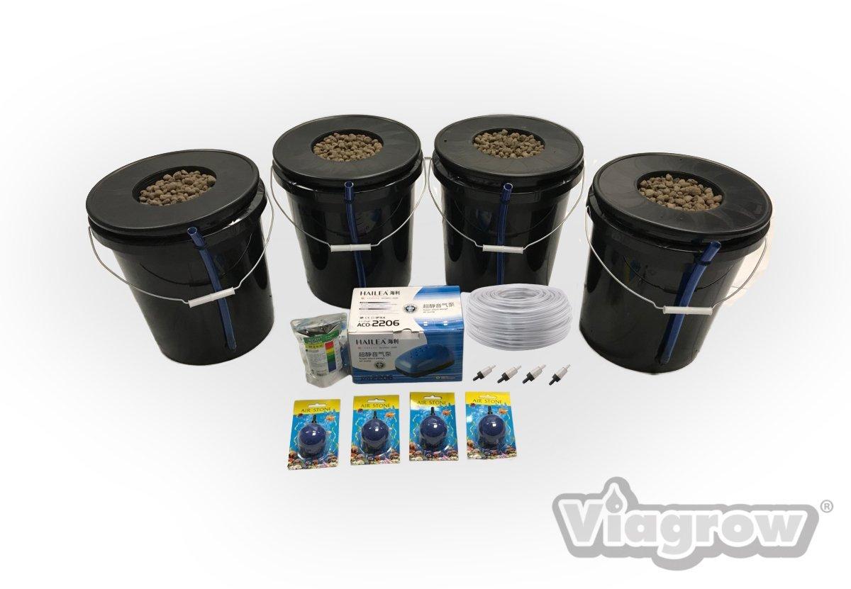 Viagrow VDIY Deep Water Hydroponic 4 Plant System