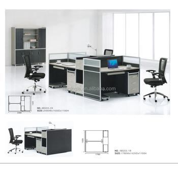 Lujo Modular Cubículo 3 Persona Oficina Estación De Trabajo/muebles ...