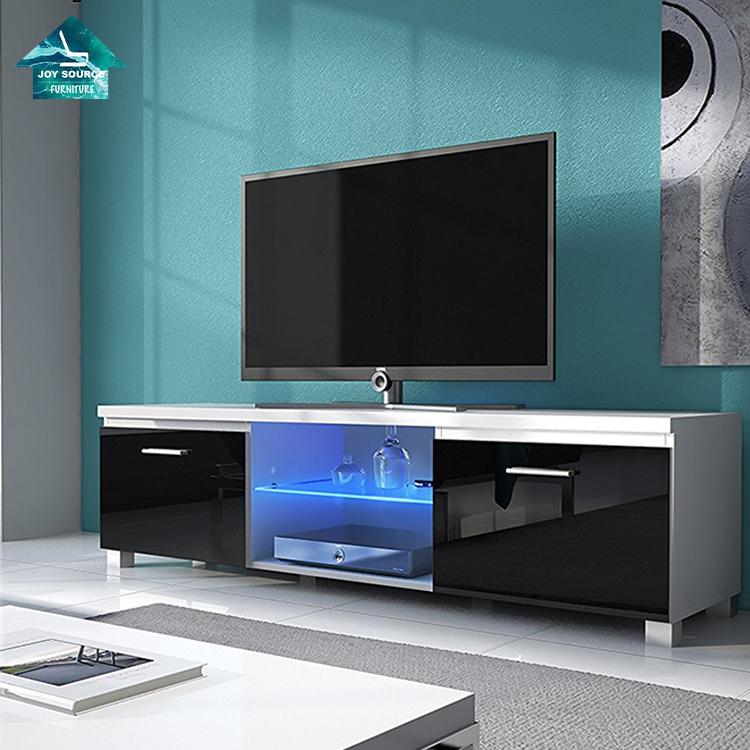 2019 новый дизайн Современная Гостиная МДФ деревянная led ТВ стойка