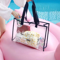 Wholesale Stylish Waterproof Transparent Clear Tote beach pvc bag