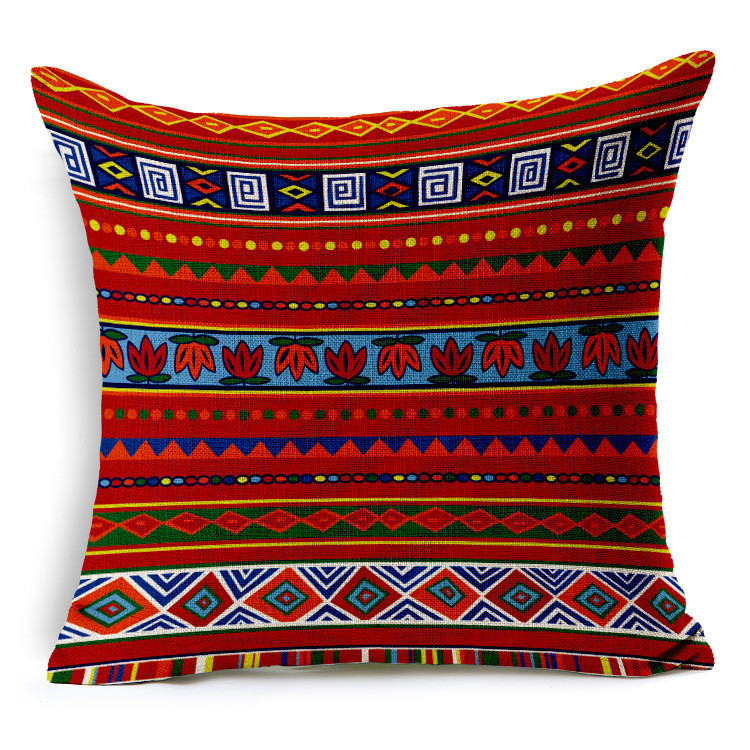 Exotic African Culture Art Cushion Cover Geometric Stripes