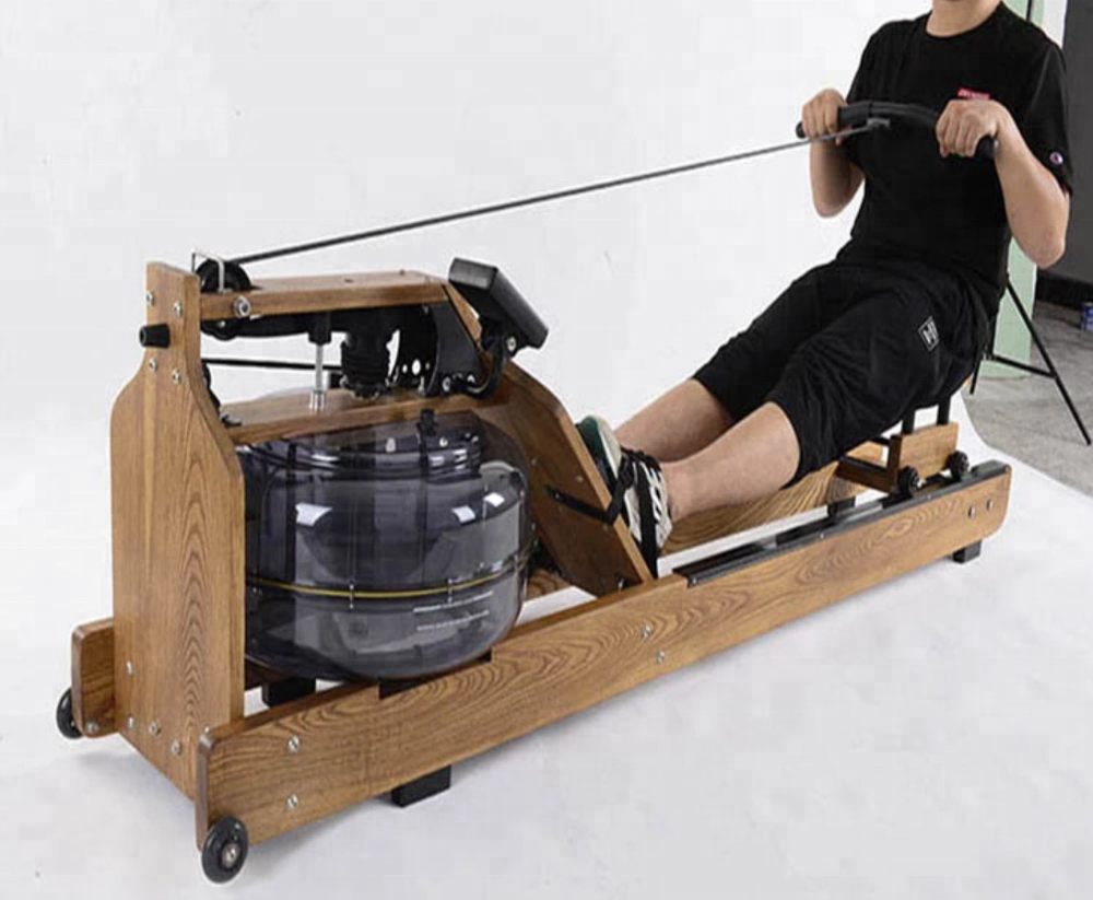 customized steel waterrower natural rowing machine with s4 monitor
