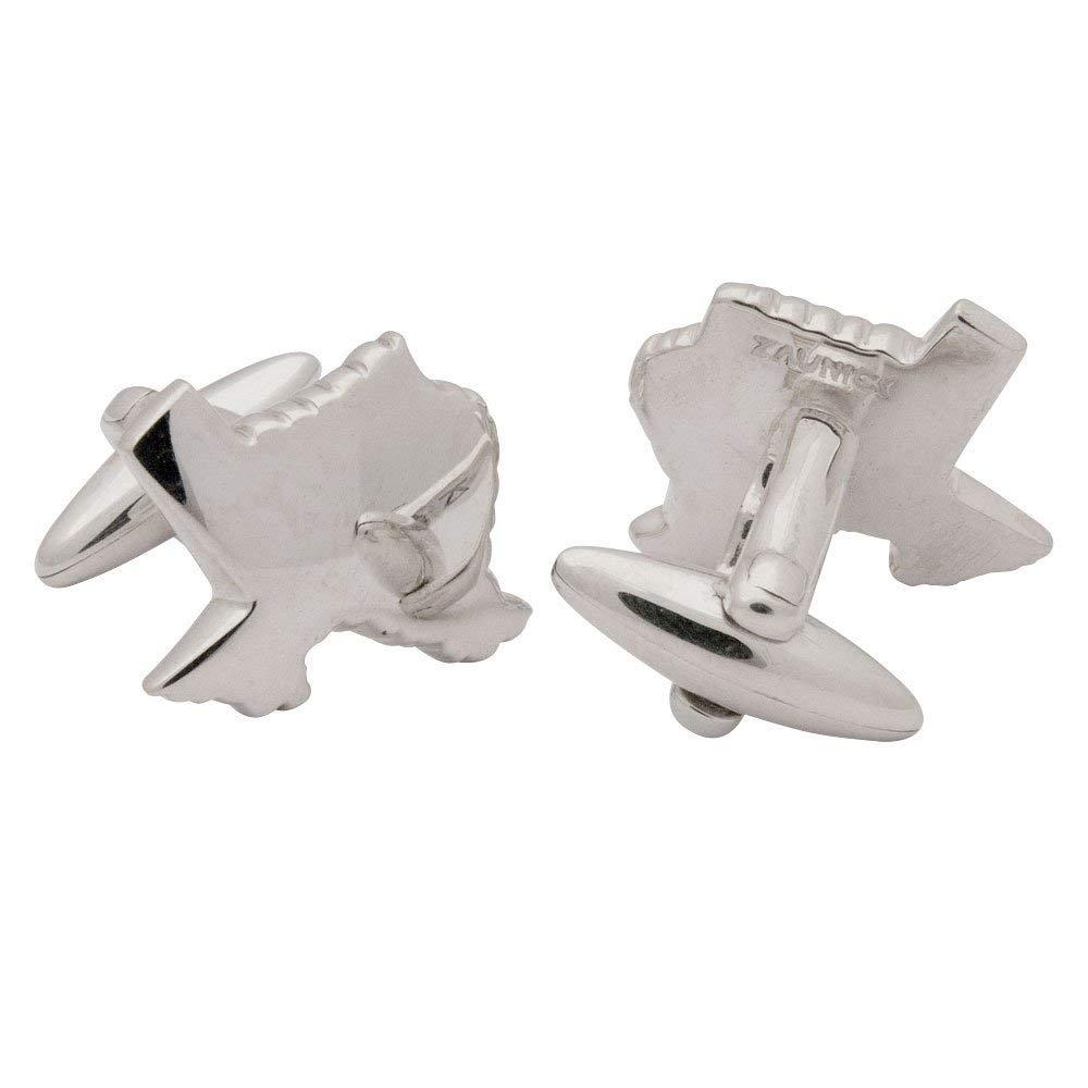 ZAUNICK Texas Cufflinks, Sterling Silver
