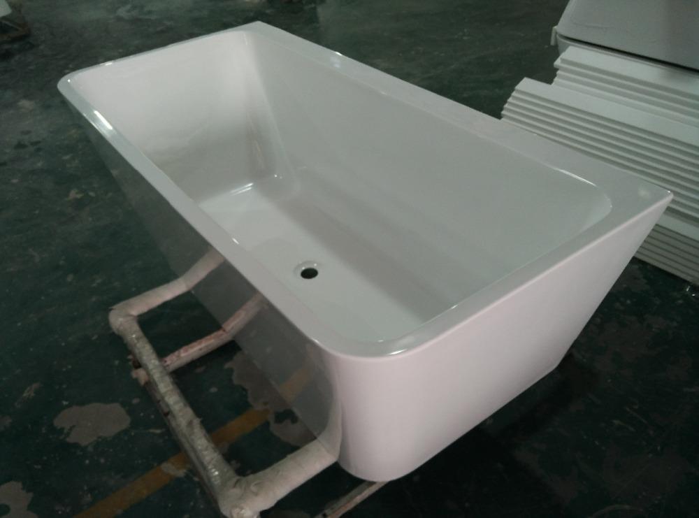 freistehende nahtlose gemeinsame soakin acryl badewanne crock eine seite ist gerade badewanne. Black Bedroom Furniture Sets. Home Design Ideas