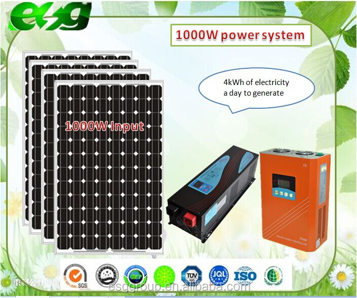 off grid home solar electricity generation system of supplying daily power of 2kwh
