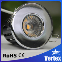 Good heat dissipation long lifespan 8w recessed fire rated cob led spotlight