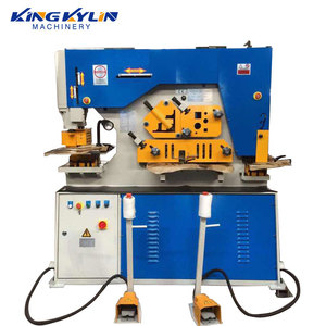 KK-90 hydraulic punching machine 90 tons pressure hydraulic cylinder press bending notching equipment