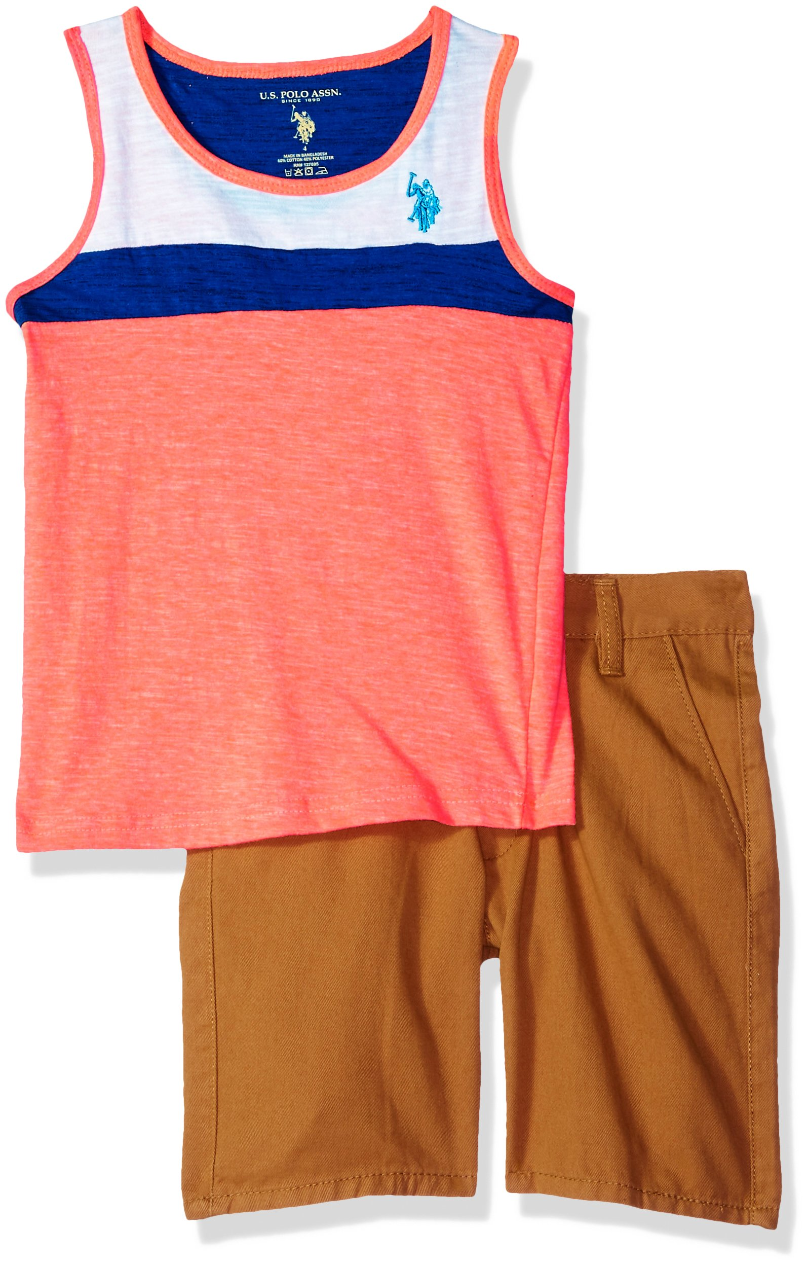 U.S. Polo Assn. Boys' Tank and Short Set